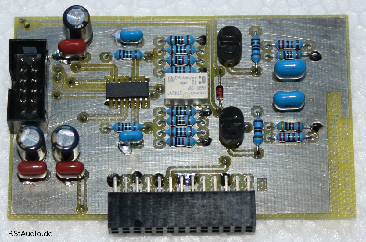 Volume Board with Buffers, 20dB Damper and DS1882
