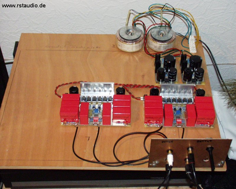 First Operation of the Preamplifier