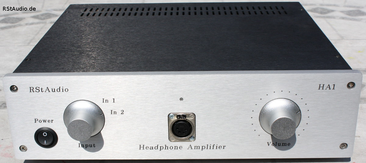 Front Side of the Headphone Amplifier