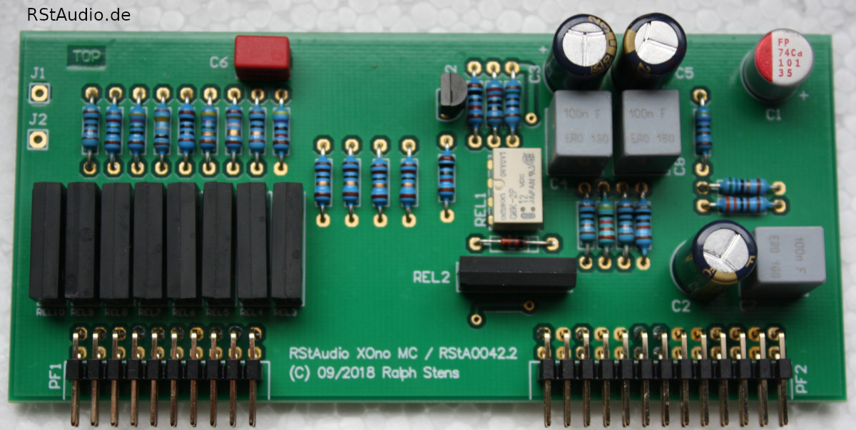 Top Side of the XOno MC Preamplifier