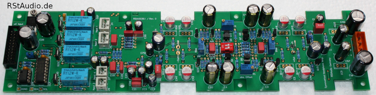 DHA Amplifier Board without Power Transistors