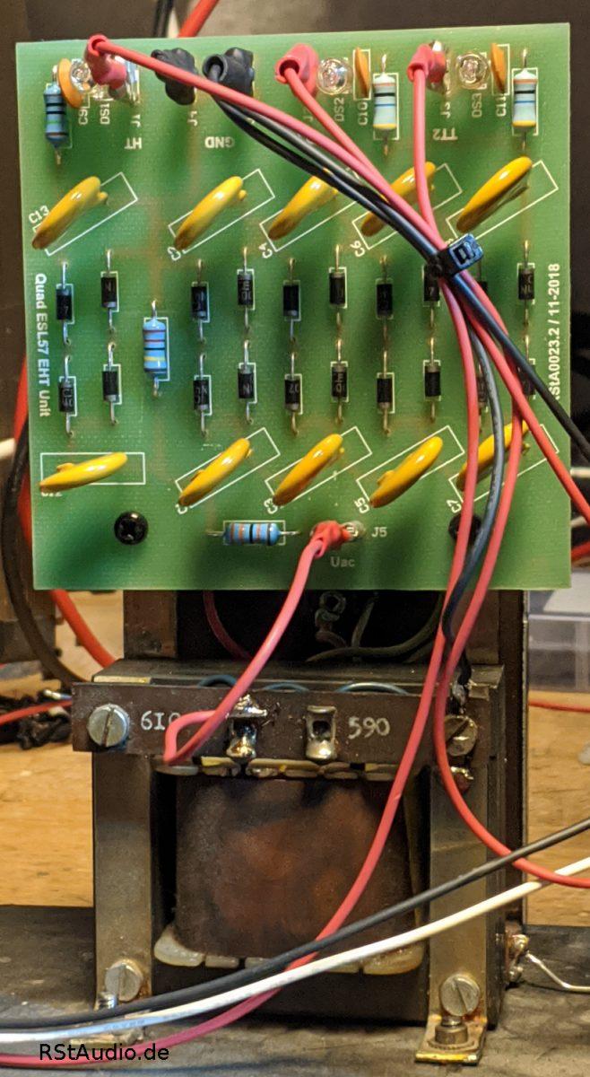 Einbau einer RStAudio 57er Quad ESL EHT Unit