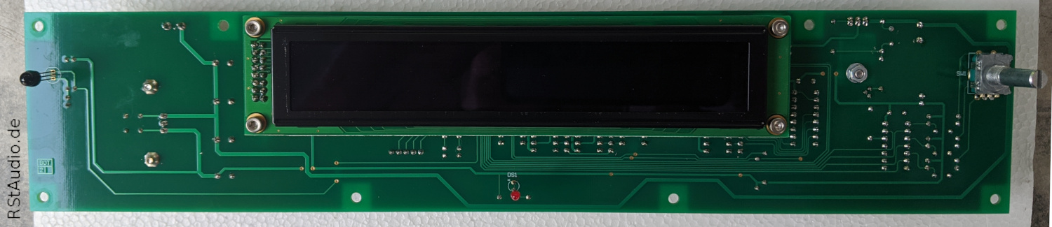 RStAudio XOno 2019 Controller Rev. 1, Solder Side with attached Display